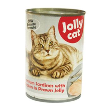 Cats Chicken In Prawn Jelly jolly cat premium sardines with chicken in prawn jelly canned 400g superpets