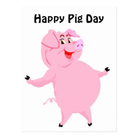 happy pig day happy pig postcards zazzle