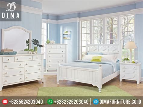 Tempat Tidur Minimalis 1 Set bedroom set white kamar tidur minimalis model terbaru casual bookcase bed wave