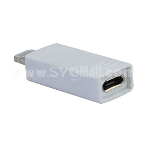 Converter Micro Usb Lightning 8 Pin Adapter Ipho Promo lightning 8 pin to micro usb adapter converter for iphone 5 mini 4 white