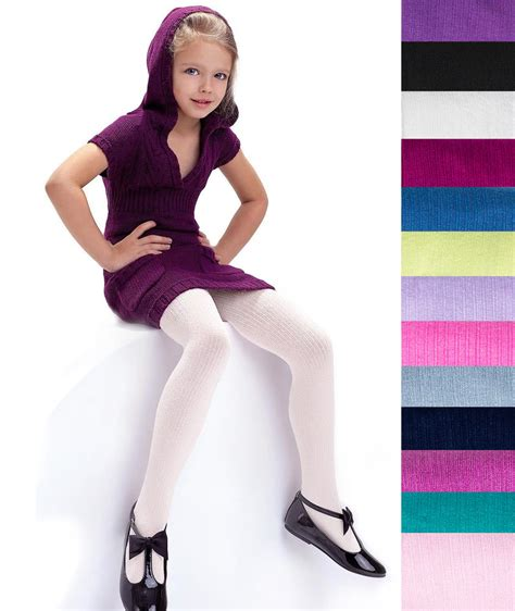 young little girls socks girls ribbed tights 100 denier soft warm natural fibres