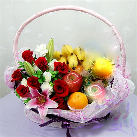 Wedding Anniversary Gift Delivery Singapore by Anniversary Flower Gifts Fruit Basket Flowers