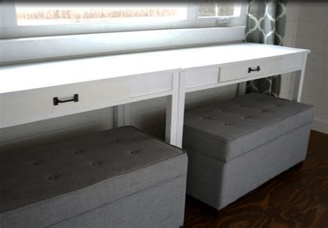 Ana White Desks That Convert To Table For Our Tiny House Diy Built In Desk Plans
