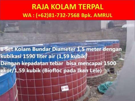 Jual Terpal Kolam Jogja wa 081 732 7568 jual kolam terpal bulat murah