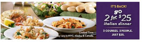 Olive Garden Current Specials by Olive Garden Specials For February Auto Design Tech