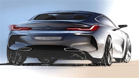 Bmw Design by Car Design Sketch Drawing Bmw 8 Series Concept