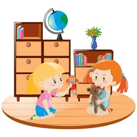 imagenes de niños jugando con sus amigos ni 241 as jugando con peluches descargar vectores gratis