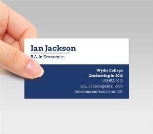 business cards for college students student business cards signazon