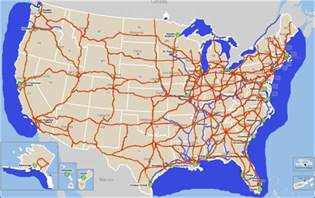 usa interstate road map car interior design
