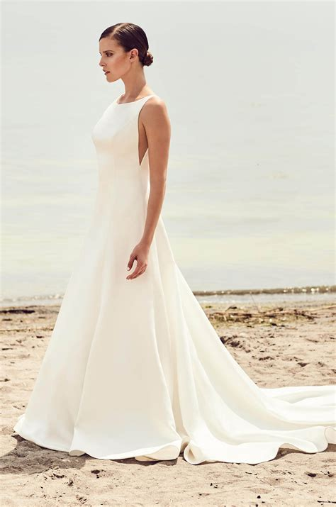 Modern Wedding Dresses by Sleek Modern Wedding Dress Style 2115 Mikaella Bridal