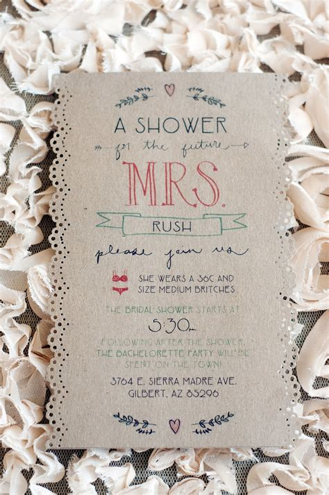 Handmade Bridal Shower Invitations - handmade wedding ideas bridal shower invite onewed