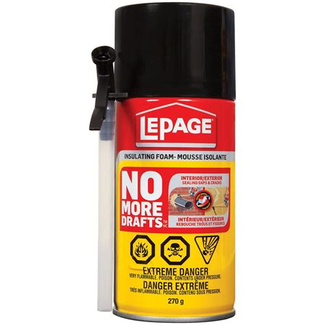 lepage no more drafts gap filling insulating foam the