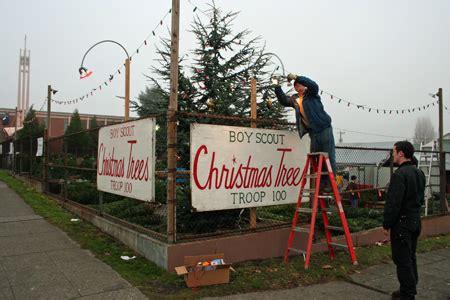 christmas tree lot business tree lots open for business my ballard