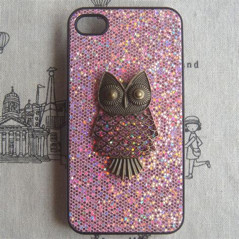 Hardcase Glitter Iphone 77 sale steunk owl bling glitter for apple iphone 4 iphone 4s cover on luulla