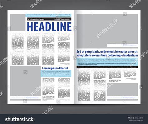 layout elements newspaper vector empty newspaper print template design stock vector