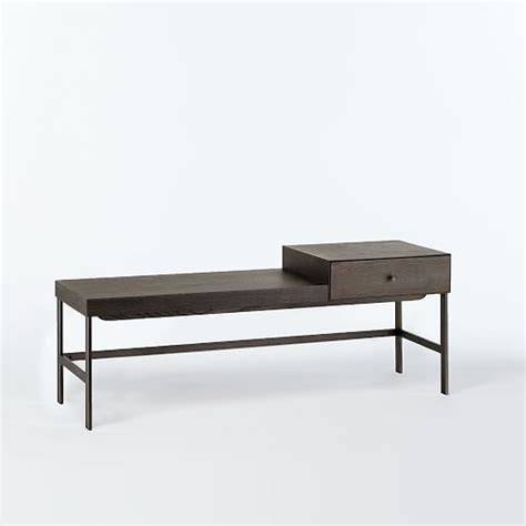 west elm offset bench offset bench smoke west elm