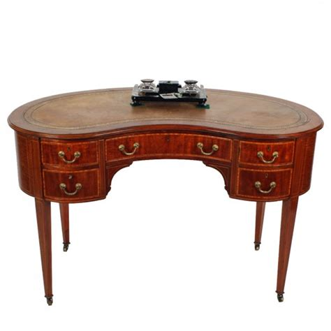 Kidney Shaped Writing Desk Antique Writing Table Edwardian Kidney Shaped Desk