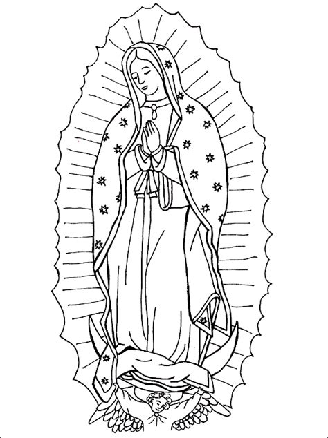 Printable Coloring Pages Virgin Mary | our lady of guadalupe coloring page coloring pages