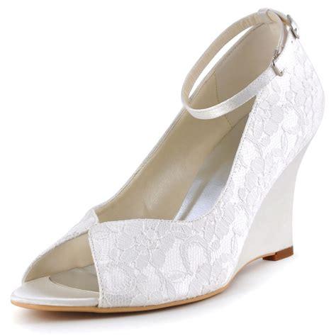 wp1415 peep toe high heels wedges ankle lace dress