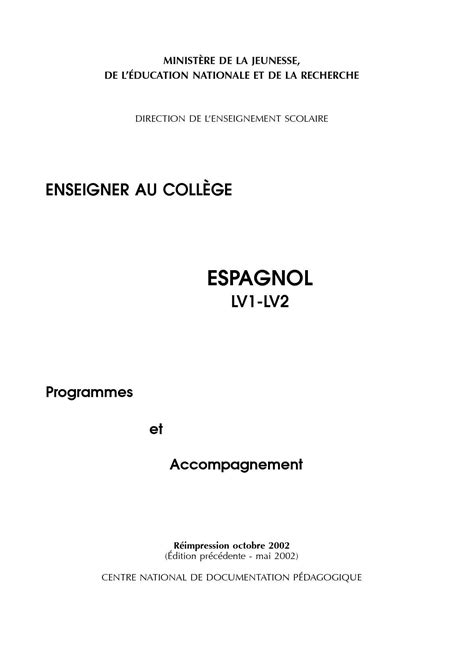 Présentation Lettre Amicale Anglais Pdf Presentation D Une Lettre En Espagnol