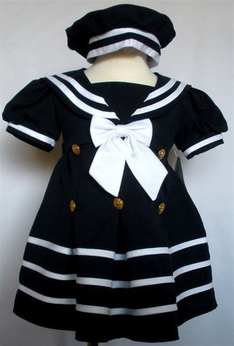 Dress Anak Bw Navy 2t 5t new baby toddler easter formal nautical sailor dress