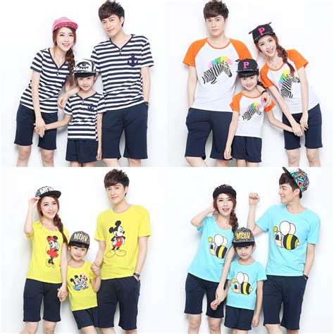 family clothes summer 2015 short sleeve t shirt shirts matching family