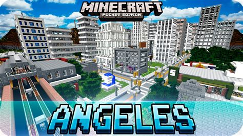 minecraft pe map minecraft pe maps blocks angeles city map with