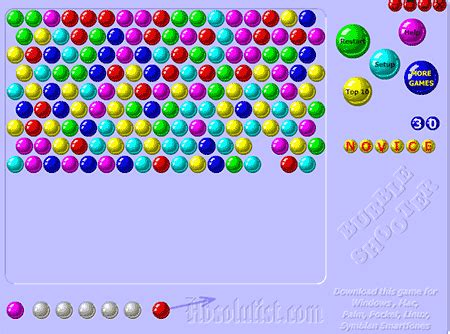 Gamis Bubblepop Import shooter play the popular bubbleshooter