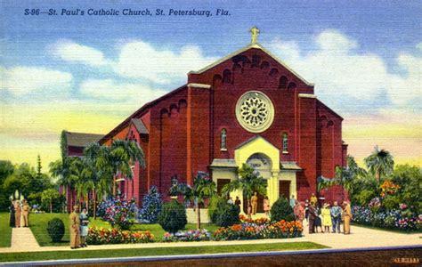 St Petersburg Fl Court Records Florida Memory St Paul S Catholic Church Petersburg Florida