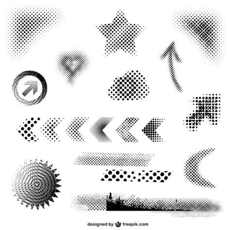 10 distressed vector halftone patterns for illustrator fleche pointille vecteurs et photos gratuites