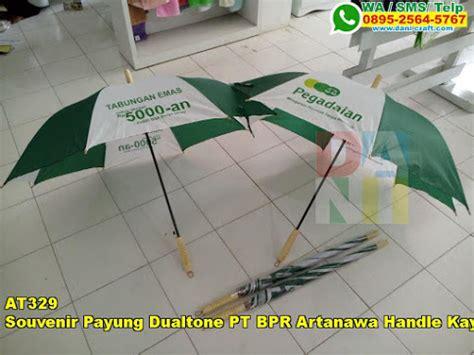 Jual Kain Spunbond Kediri souvenir payung dualtone pt bpr artanawa handle kayu