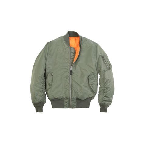 Jaket Bomber Original Olive Thunder 1 green ma 1 original flight bomber jacket army navy