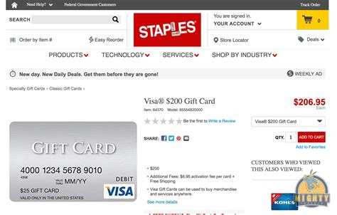 Visa Debit Gift Card - buy a visa debit 200 gift card with no shipping fees at staples mightytravels