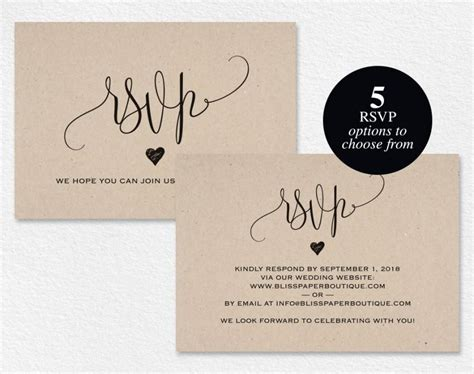 rsvp postcard rsvp template wedding rsvp cards wedding