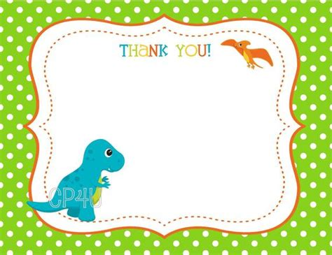 dinosaur thank you card template dinosaur dino mite birthday thank you cards