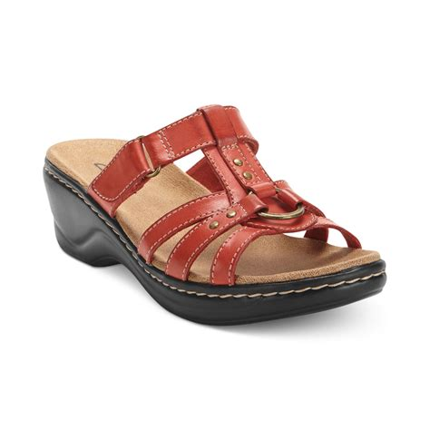clark shoes sandals clarks womens shoes sandals in black lyst
