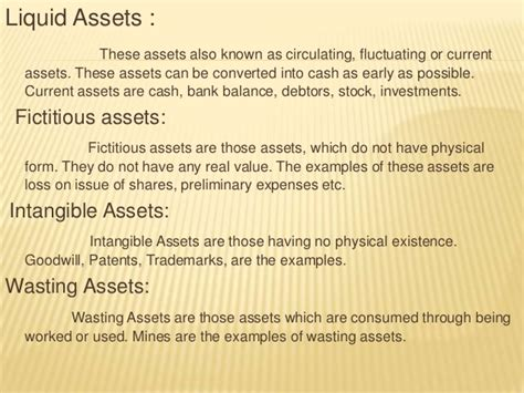 exle of liquid assets accounting ppt