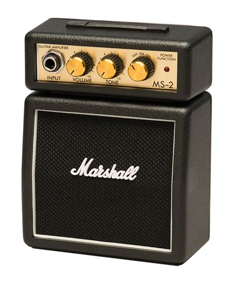 Mini Portable Guitar Lifier Marshall Ms2 Original marshall lification ms2 micro battery powered guitar lifier compass