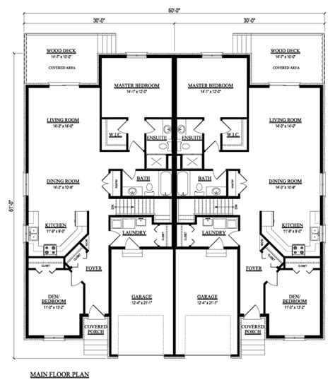 Duplex Townhouse Plans by Duplex Condo House Plans House Of Samples