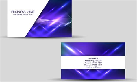 free business card templates purple business card background vector free free vector