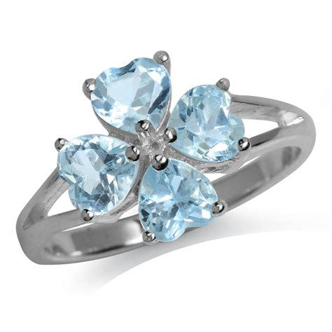 925 Sterling Silver Leaf Ring 4 leaf clover shape gemstone 925 sterling silver