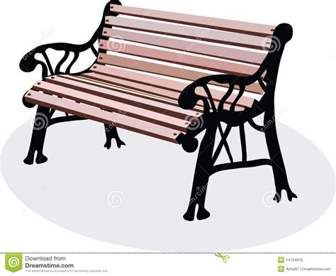 park bench clipart a bench is in a park royalty free stock photo image