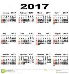 Turkey Calendario 2018 European Calendar Of 2017 Stock Photo Image 49905901