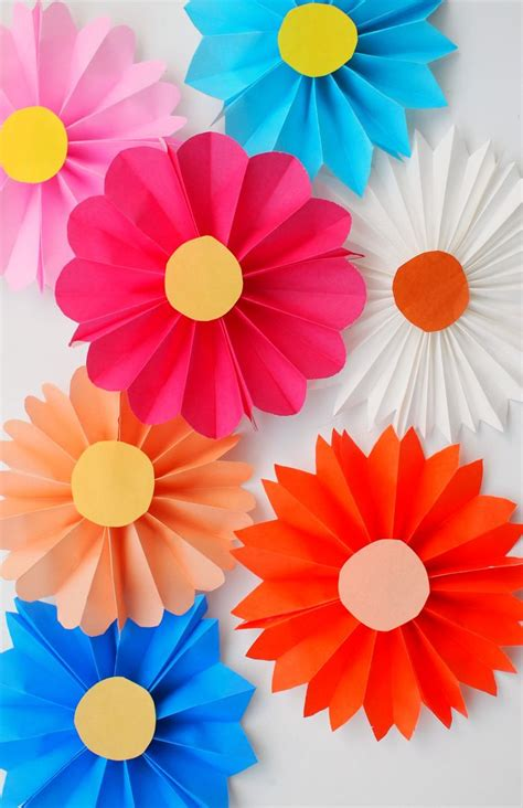Flower With Paper For - 17 best ideas about easy paper flowers on