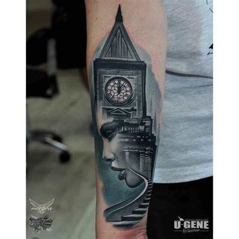 clock tower tattoo abstract arts best ideas gallery