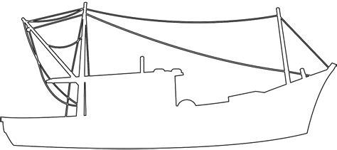silueta de barcos para colorear silueta barco pesquero contorno y silueta vector