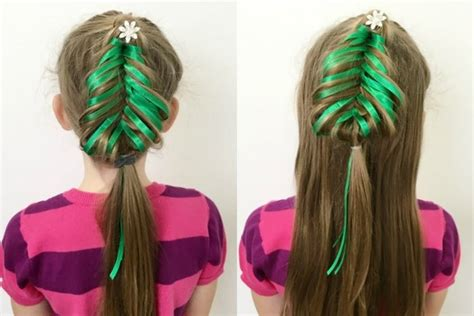christmas tree hairstyle for girls hairstyles for charming ideas for your princess