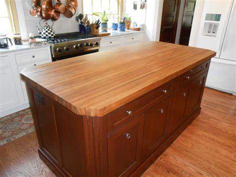 teak custom wood countertops butcher block kitchen