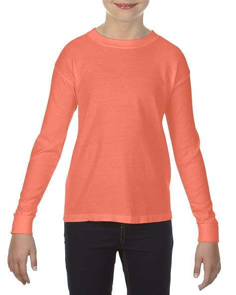 bright salmon comfort colors comfort colors c3483 youth garment dyed t shirt