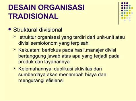 desain struktur organisasi tradisional bab 9